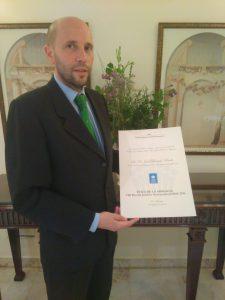 Premio Juridico Internacional del Instituto Superior de Derecho y Economia