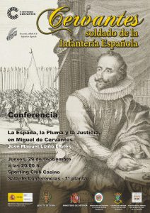 Cartel Conferencia Miguel de cervantes